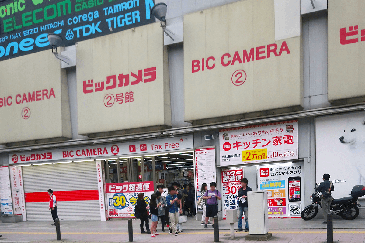 ビックカメラ天神2号店の行列